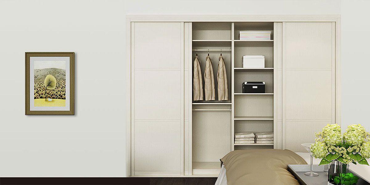 Modern White Melamine Bedroom Wardrobe YG16-M05
