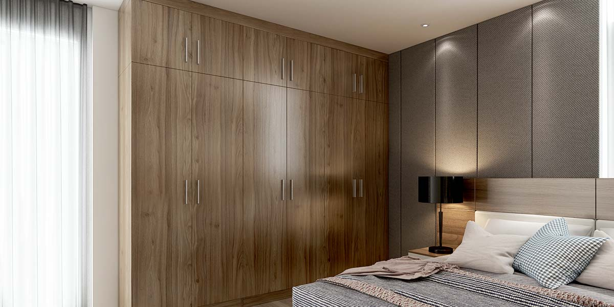 Wood Grain Melamine Hinged Wardrobe YG18-M01